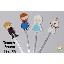 Mini Totens Toppers Personalizados - Frozen - 100 Uni