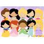 Princesas Cute - Papel Arroz A4 -comestível Para Bolo