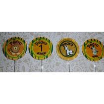 Topper Para Cupcake 5 Cm Personalizados - Tema Safari