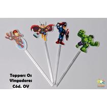 Mini Totens Toppers Personalizados - Os Vingadores - 50 Uni