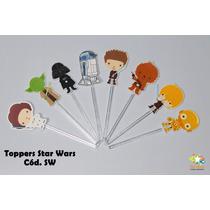 Mini Totens Toppers Personalizado - Todos Os Temas - 100 Uni