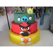 Bolo Cenografico Fake Falso, Angry Birds 3 Andares