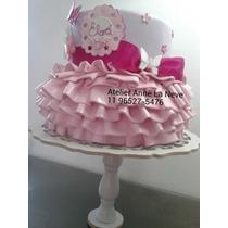 Bolo Cenográfico Rosa Lilás Barbie Butterfly Pronta Entrega