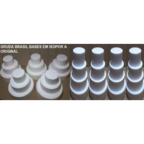 Bases Em Isopor É 31 Bases ( 5 Kits De 3 Mais 4 Kits De 4 )