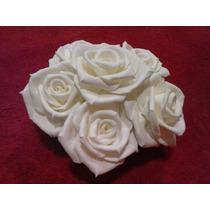 5 Rosas Biscuit,feita À Mão 7 Cm, P/bolos,artesanatos,festa