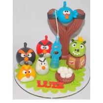 Topo De Bolo Infantil Angry Birds