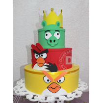 Bolo Cenográfico Angry Birds