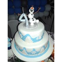 Olaf - Topo De Bolo E Vela Tema Frozen Olaf