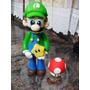 Topo De Bolo Luigi Ou Mario Bros - Geek Nerd Decoração 1up