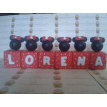 Cubos Personalizados Minnie Ou Mickey Com Nome - Biscuit