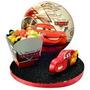 Enfeite Porta Doces E Salgados Cars Silver Disney