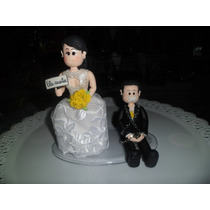 Casal Noivinhos De Biscuit, Topo De Bolo Para Casamento