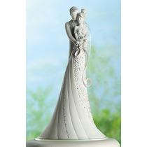Topo De Bolo Casamento Noivinhos - Embrace - Pronta Entrega