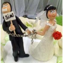 Casal De Noivinhos Biscuit Topo Bolo Casamento Amarradinho