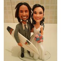 Noivinhos Personalizados, Para Casamento Topo De Bolo Biscut