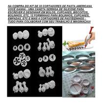 Kit 33 Peças - Cortadores Para Pasta Americana Importados
