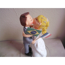 Noivinhos Em Biscuit Para Casamento Ou Noivado