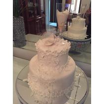 Bolo Fake Falso Casamento Noivas Taças E Prato Espelhado