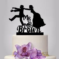 Topo De Bolo Em Acrílico - Casamento