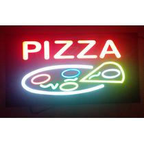 Quadro Led Painel Placa Pizza Bar Caixa Wifi Lanche 43,5 Cm