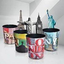 Cesto Lixeira Plástica 10 L - Rio Paris Londres Nova York