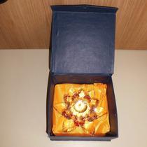 Cristal Enfeite Flor De Lotus 14cm Na Caixa P/presente