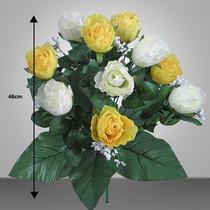 Bq C/12 Rosas Cores Diversas 40cm (1421)-flores Artificiais