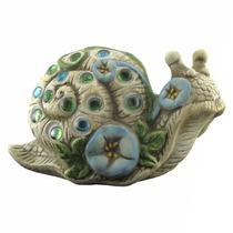 Caracol Caramujo Flor Em Cerâmica - Jardim - Qys-029by