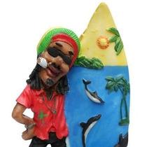 Bob Marley Surfista Reggae Em Resina - Prancha De Surf