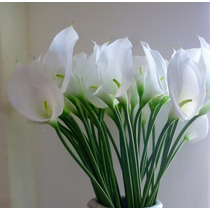 Flores Artificiais Copo De Leite Em Silicone