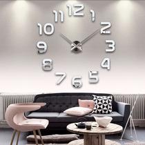 Relógio De Parede Diy Importado Adesivo 3 D Espelho Acrílico