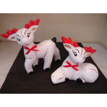 #1059# Renas P/ Arvores De Natal Ceramica Promoçao