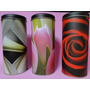 Conjunto De Latas Tulipa Rosa Porta Condimentos Altura 18 Cm