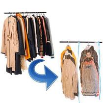 04 Sacos A Vácuo - Vacuum Bag Para Cabide- Tamanho 98 X 68cm