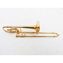 Trombone 14 Cm - Miniatura Em Metal Com Case