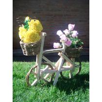 Bicicleta De Cipó C/ Vasos Para Orquídeas E Plantas(p)-artes