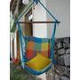 Rede Cadeira De Teto Descanso Balanço Artesanal Coloridas