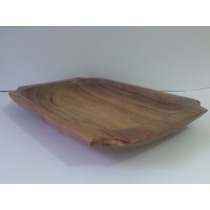 Gamela De Madeira Angico Quadrada Uso Enfeite-artesanato-(m)