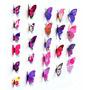 12 Borboletas 3d Tridimensionais - Decoração Parede - Pink