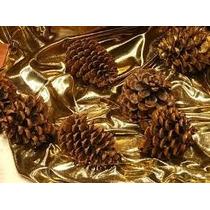 50 Pinhas Natural Para Decoração De Natal