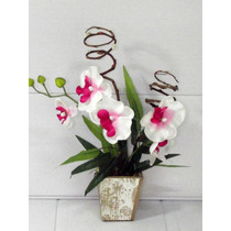 Arranjo De Orquideas Artificial - Flores Artificiais Ñ Rosas