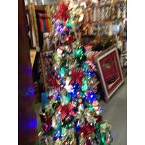 Árvore De Natal 1,8m Decorada 104 Enfeites E Piscaled 100lam