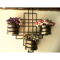 Treliça Para Jardim Vertical Com Vasos Exclusiva !!!!