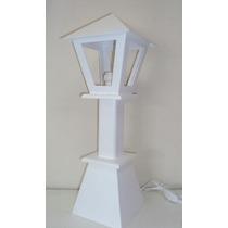Luminaria De Mesa Em Mdf Na Cor Branca-2 Peças Frete Barato