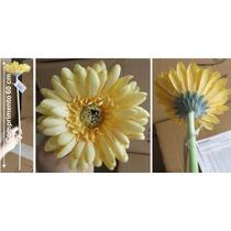 Flores Artificiais Importadas Haste Gerbera 90 Cm - 3 Unid