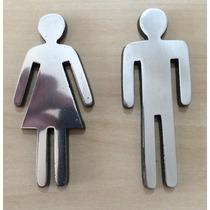Casal P/ Porta De Banheiro Em Aluminio Altura 9cm