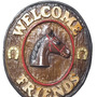 Placa Decorativa Welcome Friends Country