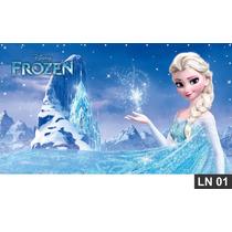 Frozen Painel 3m² Lona Festa Banner Aniversario Decoração
