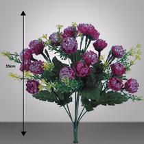 Bq C/21 Mini Crisant Brilhante 33cm(03235)flores Artificiais