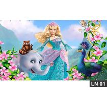 Barbie Princesa Da Ilha Painel 3m² Lona Banner Aniversario
